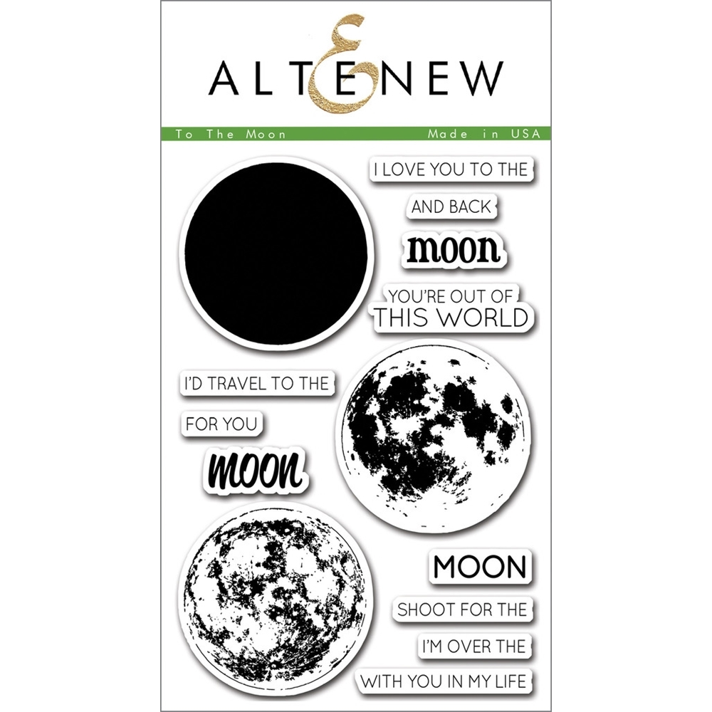 Altenew TO THE MOON Clear Stamp Set ALT1074 zoom image