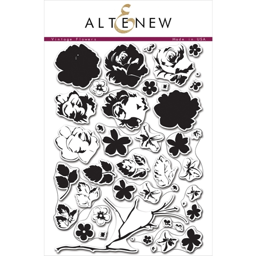 Altenew VINTAGE FLOWERS Clear Stamp Set  Preview Image