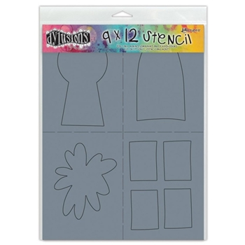 Dyan Reaveley Stencil 9 x 12 SHAPES 2 LARGE Dylusions DYS45441