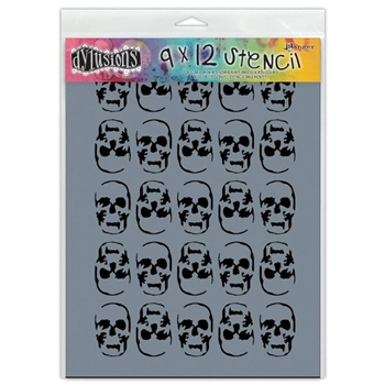 Dyan Reaveley Stencil 9 x 12 SKULLS LARGE Dylusions DYS45458