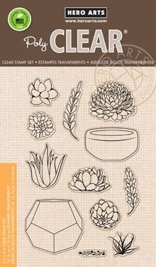 Hero Arts Stamp Your Own Succulents Clear Stamp Set