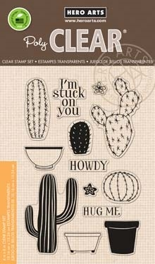 Hero Arts Clear Stamps STAMP YOUR OWN CACTUS CL838* Preview Image