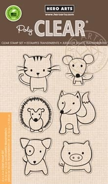 Hero Arts Clear Stamps  PLAYFUL ANIMAL CL832 zoom image