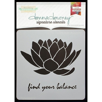 Donna Downey FIND BALANCE Signature Stencil DD046