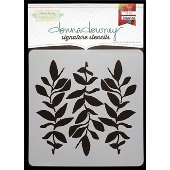 Donna Downey LEAF STEM TRIO Signature Stencil DD045