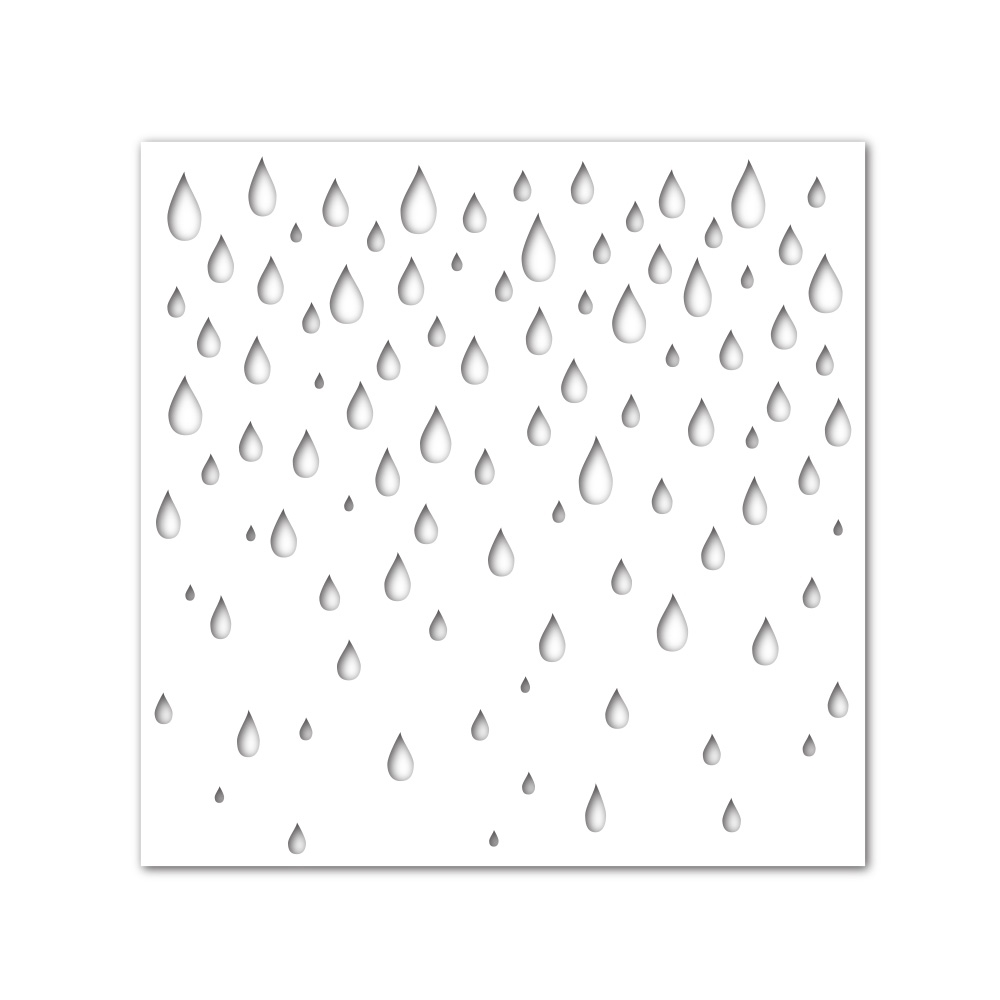 Simon Says Stamp Stencil RAINDROPS ssst121373 Hop To It zoom image