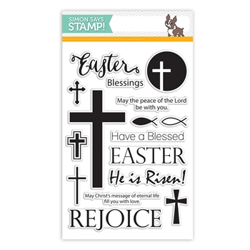 Simon Says Clear Stamps REJOICE sss101490 *