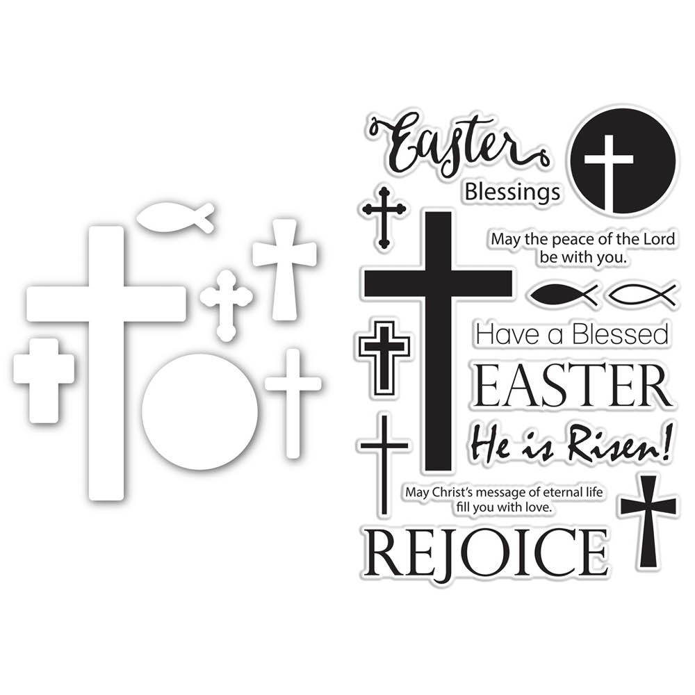 Simon Says Dies and Stamps Set HE IS RISEN SetHIR183 Hop To It * zoom image
