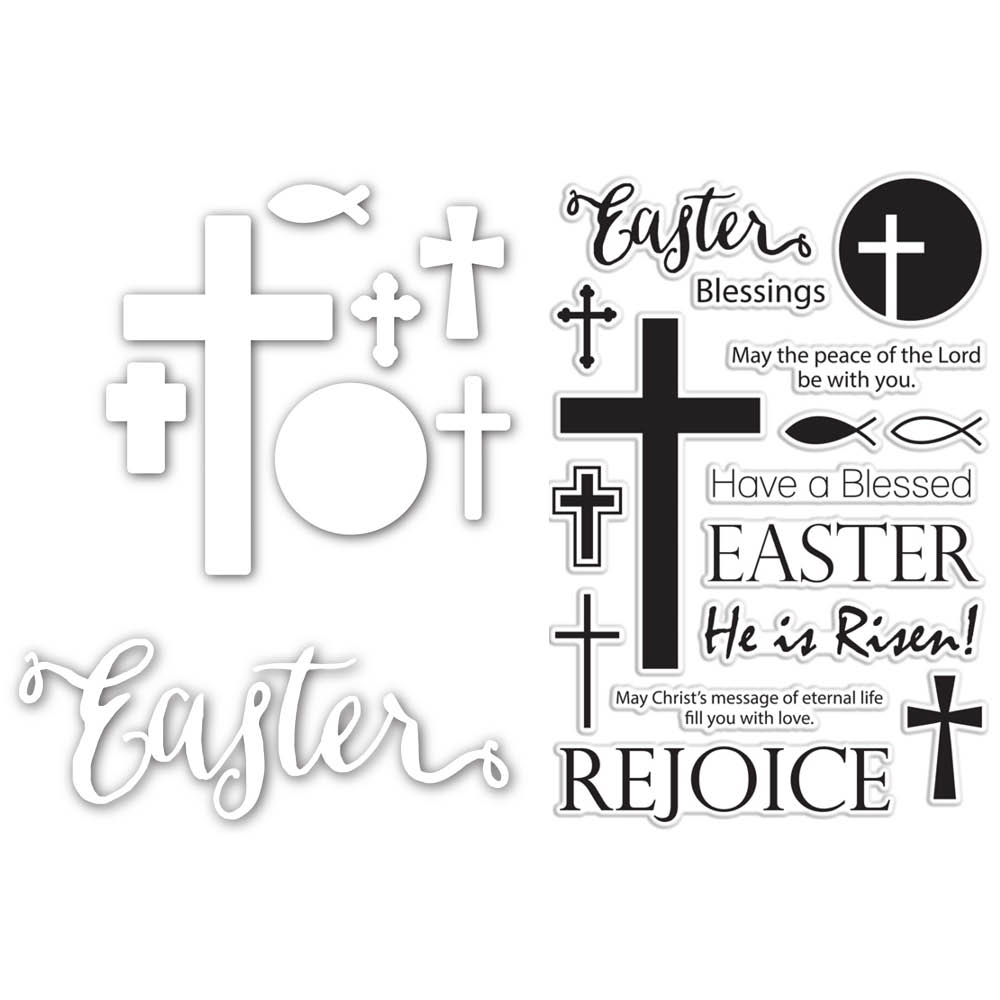Simon Says Die and Stamps Set BLESSED EASTER SetBE184 Hop To It zoom image