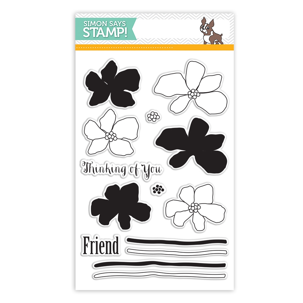 Simon Says Clear Stamps ARTFUL FLOWERS sss101488 Hop To It zoom image