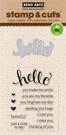 Hero Arts Stamp And Cuts HELLO Coordinating Set DC151 Preview Image