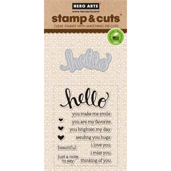 Hero Arts Stamp And Cuts HELLO Coordinating Set DC151