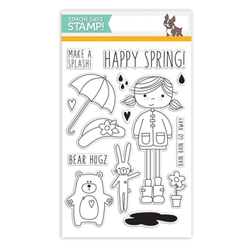 Simon Says Clear Stamps ABBY'S SPRING SHOWERS sss101489 Hop To It *