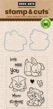 Hero Arts Stamp And Cuts BABY ANIMALS Coordinating Set DC148 Preview Image