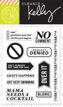 Hero Arts Clear Stamps KELLY'S NO COMMENT Clearly Kelly CL817 zoom image