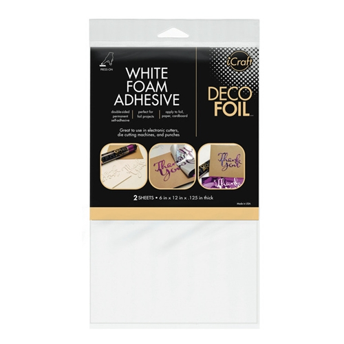 Therm O Web WHITE FOAM ADHESIVE Deco Foil Double Sided Transfer 03764 Preview Image