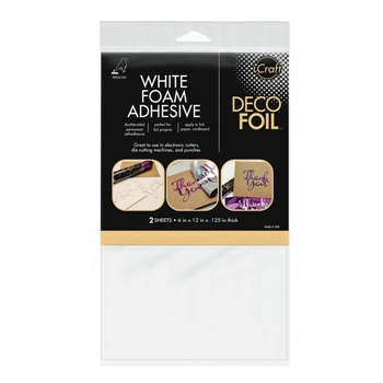 Therm O Web WHITE FOAM ADHESIVE Deco Foil Double Sided Transfer 03764