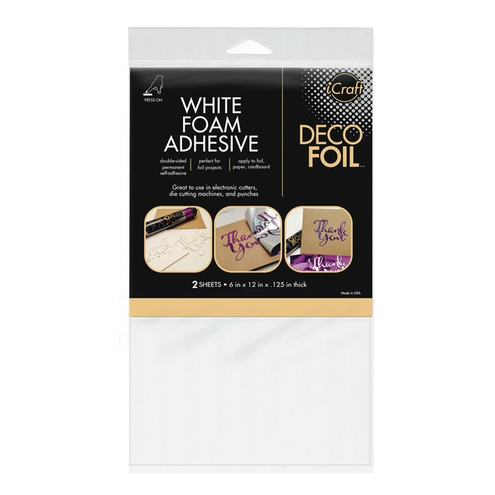 Therm O Web WHITE FOAM ADHESIVE Deco Foil Double Sided Transfer 03764 zoom image