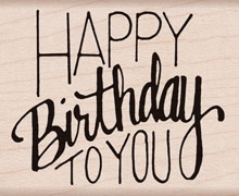 Hero Arts Rubber Stamp HAPPY BIRTHDAY TO YOU F6068 zoom image