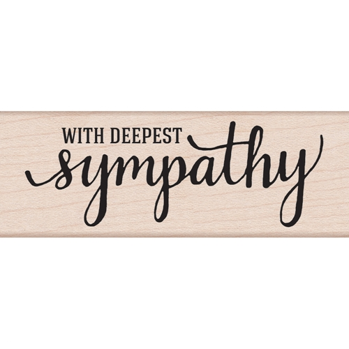 Hero Arts Rubber Stamp WITH DEEPEST SYMPATHY G6072 Preview Image