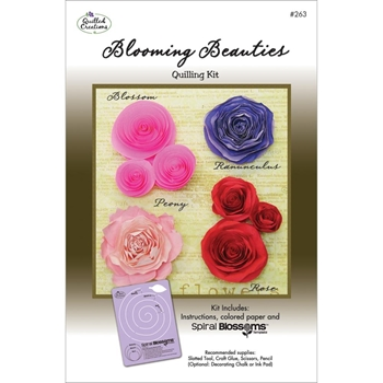Quilled Creations BLOOMING BEAUTIES Quilling Kit 263*