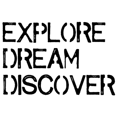 Tim Holtz Rubber Stamp EXPLORE DREAM DISCOVER Stampers Anonymous J2-2611 Preview Image