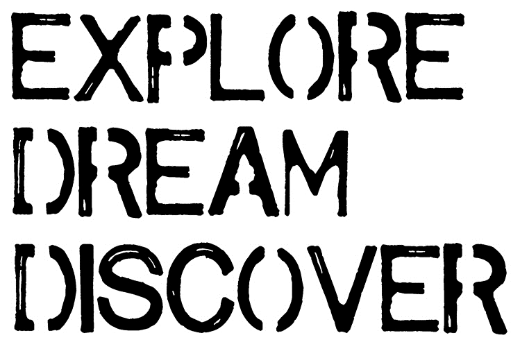 Tim Holtz Rubber Stamp EXPLORE DREAM DISCOVER Stampers Anonymous J2-2611 zoom image