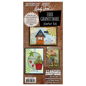 Wendy Vecchi Art Parts FAUX GRANITEWARE STARTER KIT Studio 490 WVGRST*