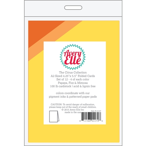 Avery Elle THE CITRUS COLLECTION A2 Folded Cards 022706 Preview Image