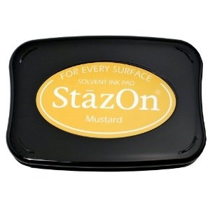 Tsukineko Stazon MUSTARD YELLOW INK PAD sz-91* zoom image