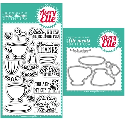 Avery Elle Clear Stamp and Die SET87TTAE Tea Time Set  Preview Image