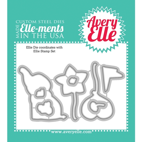 Avery Elle Steel Dies ELLIE Set D-15-09 Preview Image