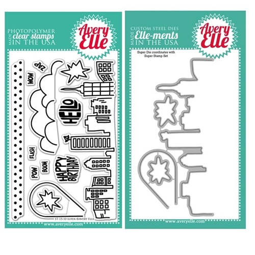 Avery Elle Clear Stamp and Die SET19SPAE Super Set * Preview Image