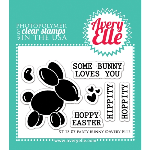 Avery Elle Clear Stamps PARTY BUNNY Set 022393 Preview Image