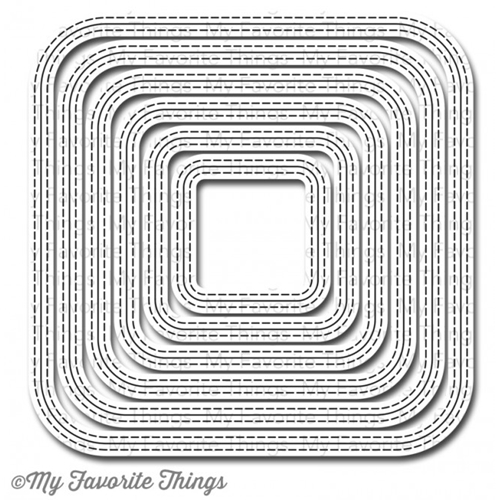 My Favorite Things INSIDE AND OUT STITCHED ROUNDED SQUARE STAX Die-Namics MFT600 Preview Image