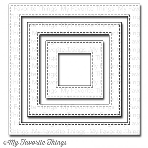 My Favorite Things STITCHED SQUARE FRAMES Die-Namics MFT605 Preview Image