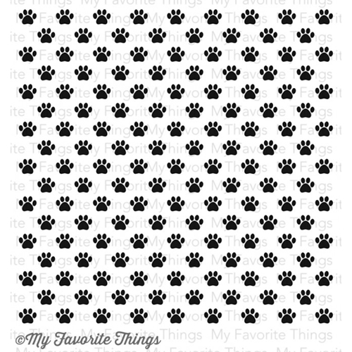 My Favorite Things PAW PRINT BACKGROUND Cling Stamp MFT BG39 Preview Image