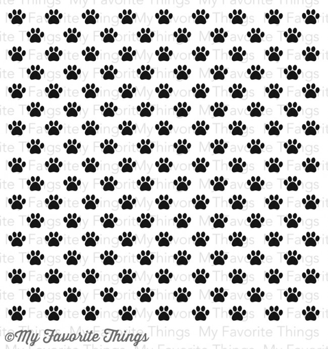 My Favorite Things PAW PRINT BACKGROUND Cling Stamp MFT BG39 zoom image