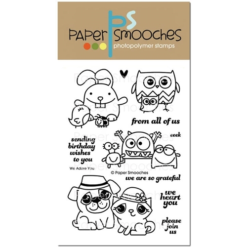Paper Smooches WE ADORE YOU Clear Stamps M1S240 Preview Image