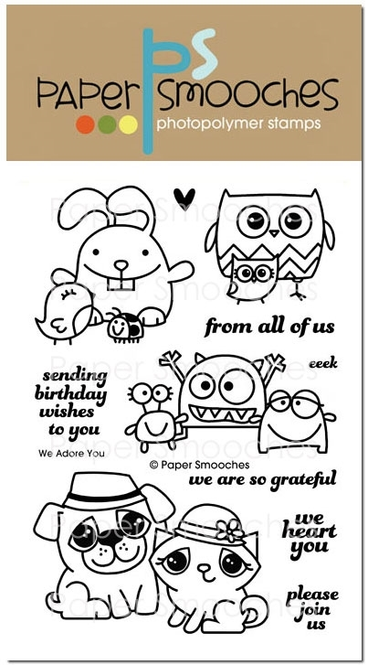 Paper Smooches WE ADORE YOU Clear Stamps M1S240 zoom image