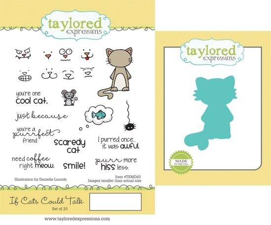 Taylored Expressions IF CATS COULD TALK Cling Stamp and Die Set TEMD43 zoom image
