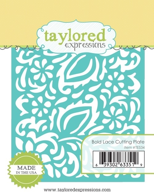 Taylored Expressions BOLD LACE Cutting Plate Die Set TE534 zoom image