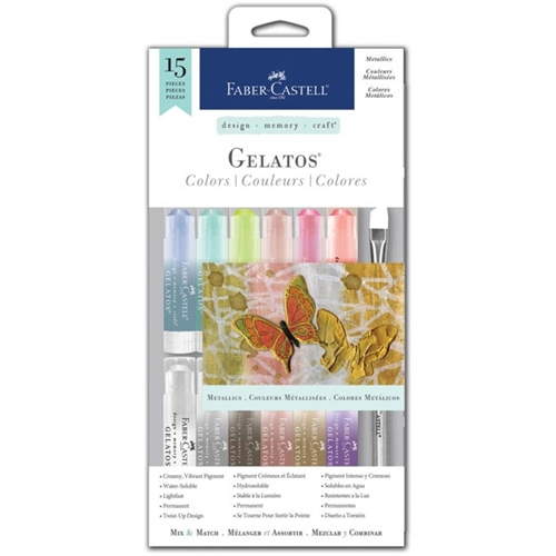 Faber-Castell METALLICS 15 PIECE GELATOS Set 770170 Preview Image