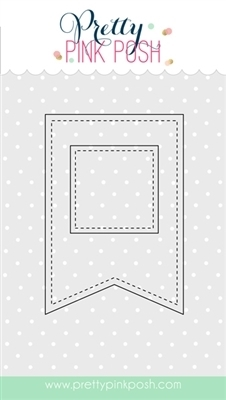 Pretty Pink Posh STITCHED BANNER DUO 1 Steel Craft Dies  Preview Image