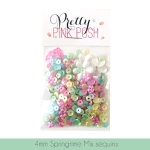 Pretty Pink Posh 4MM SPRINGTIME MIX Sequins PPPSTM4 Preview Image