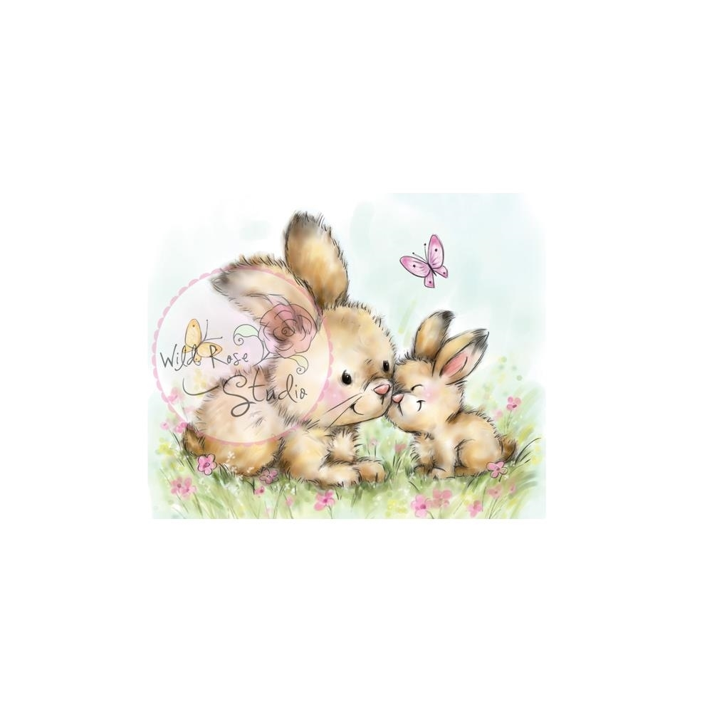 Wild Rose Studio SPRING BUNNIES Clear Stamp CL451 zoom image