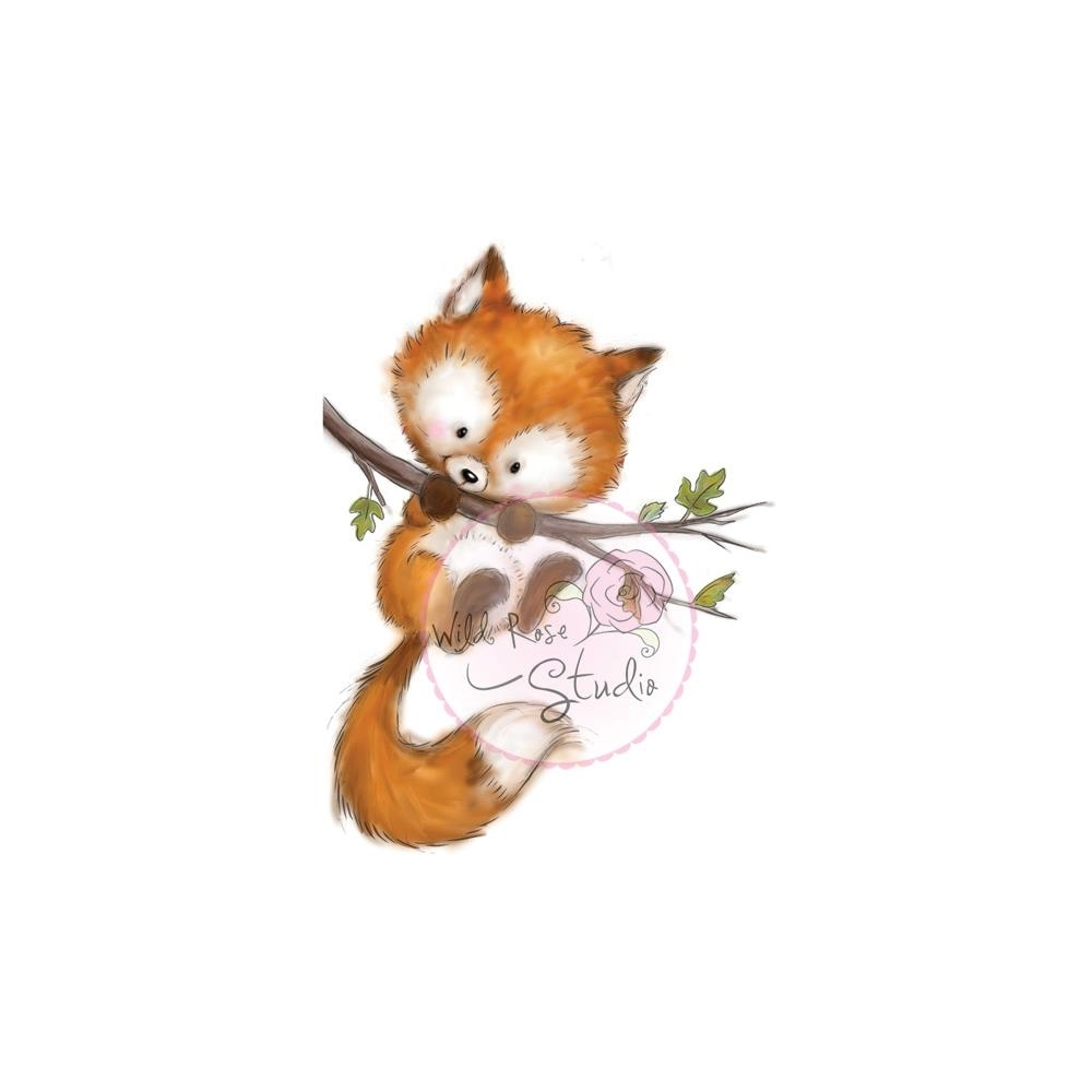 Wild Rose Studio FOX ON A BRANCH Clear Stamp Set CL450 zoom image