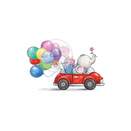 Wild Rose Studio BELLA IN CAR Clear Stamp CL449 Preview Image