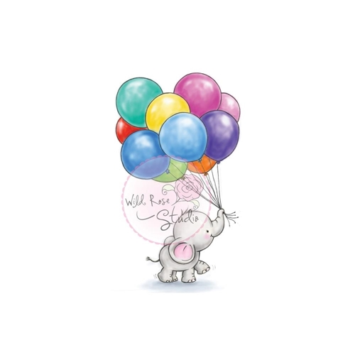 Wild Rose Studio BUNCH OF BALLOONS Clear Stamp Set CL453 Preview Image