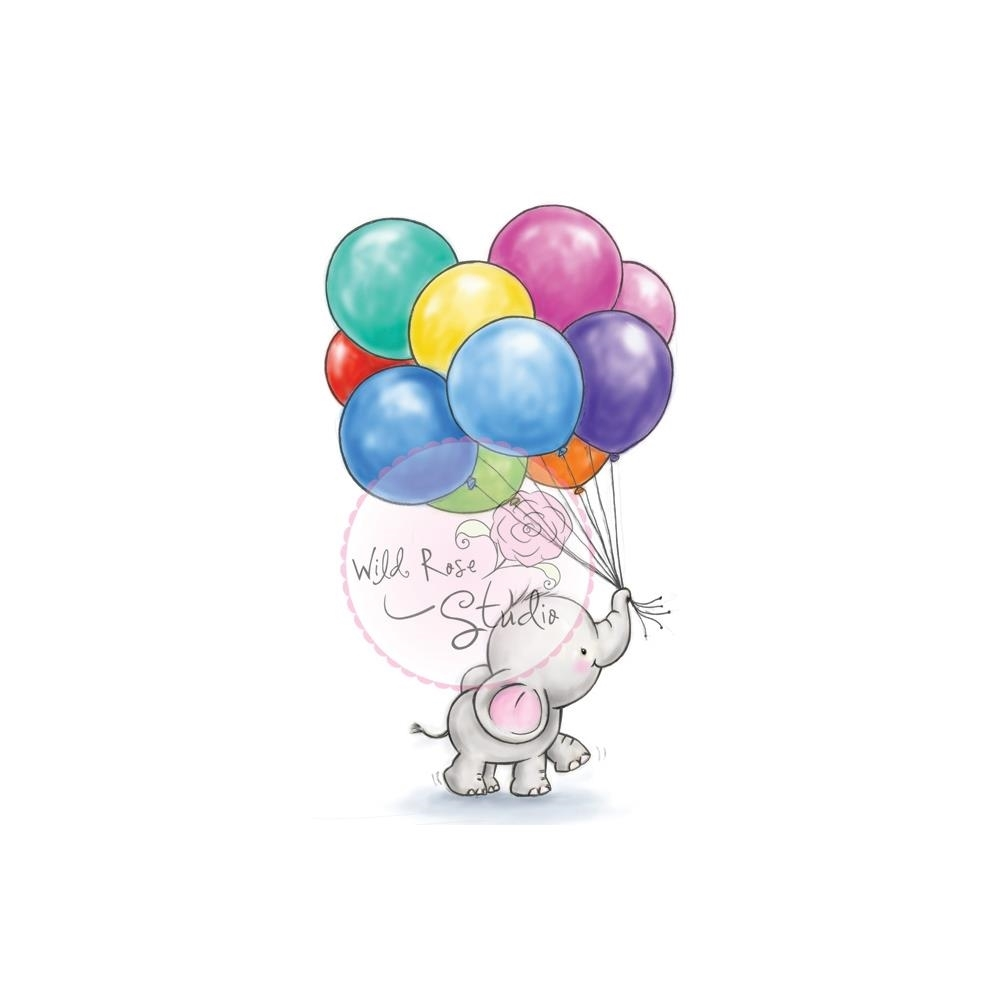 Wild Rose Studio BUNCH OF BALLOONS Clear Stamp Set CL453 zoom image